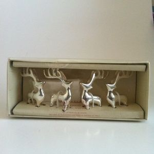 Pottery Barn Reindeer Place Card Holders Set of 4